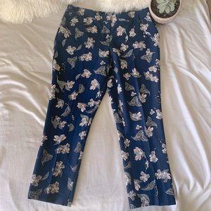 Dalia Navy Floral Trouser Pants